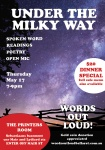 poster for may edition of words out loud in ballarat