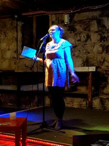 Rachel O'Neill at Words Out Loud in 2018